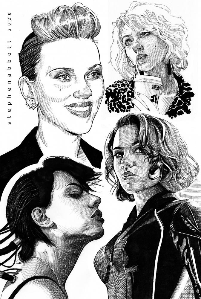 Scarlett Johansson por Stefanosart